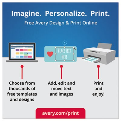 Avery 22825 Round Print-to-the-Edge Labels, 2\
