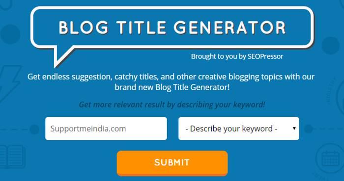 SEO Pressor Blog Title Generator