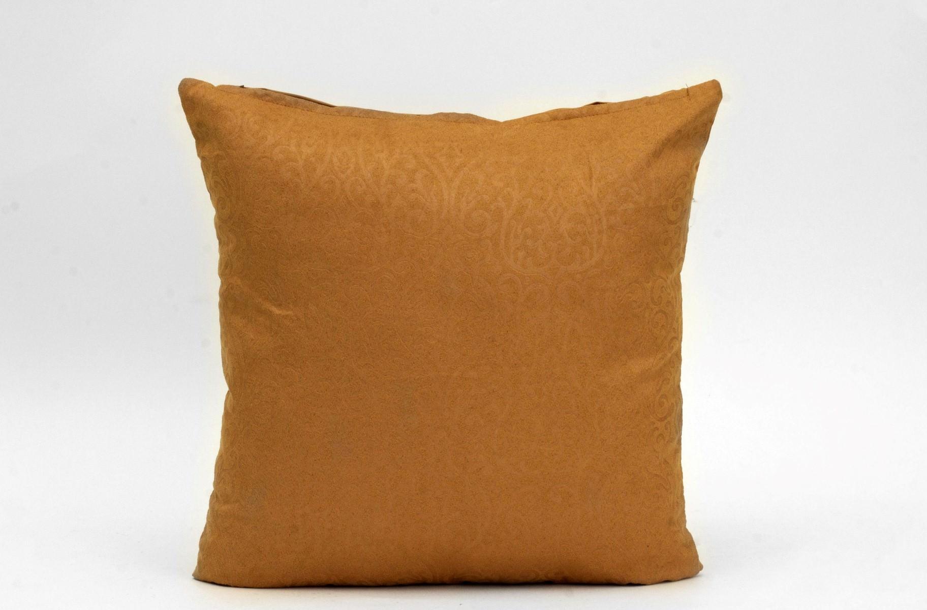 Embossed Royal Pattern Suede Cushion Suraaj Linens