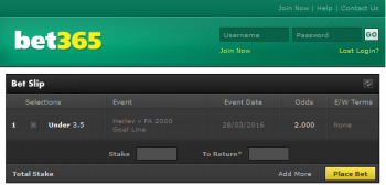 FA 2000 @ Bet365 Bookmaker