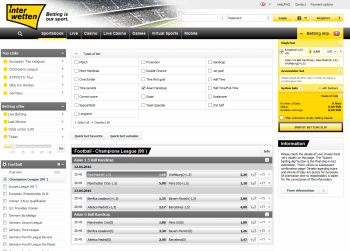 Real Madrid @ Interwetten Bookmaker