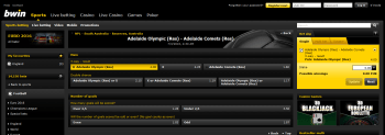 Adelaide Olympic (Res) @ BWin Bookmaker