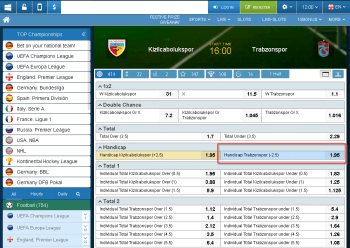 Trabzonspor @ 1xBet Bookmaker
