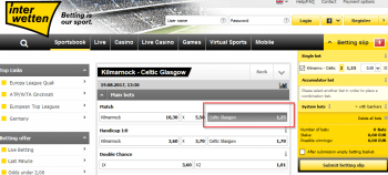 Celtic Glasgow @ Interwetten Bookmaker