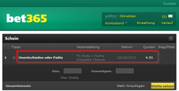 PaiHa @ Bet365 Bookmaker