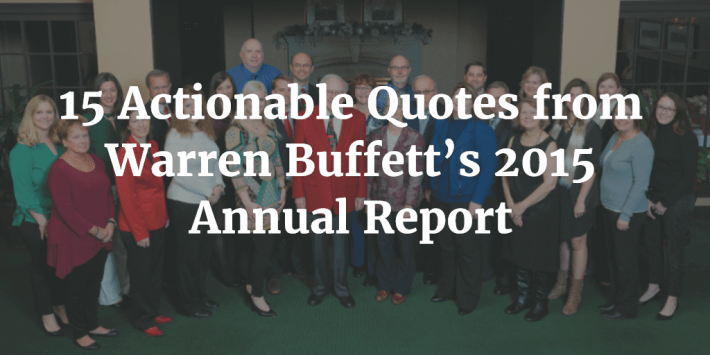Warren Buffett 2015 Quotes