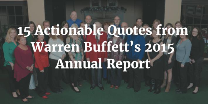 Warren Buffett 2015 Quotes
