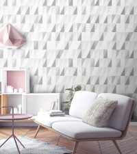 Grey Wallpaper | High End Unique Grey Geometric Print ...