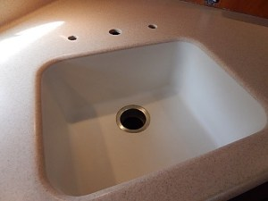 boat sink refinish refinish kitchen sink matte finish satin finish countertop finishes - Kitchen Sink Refinishing