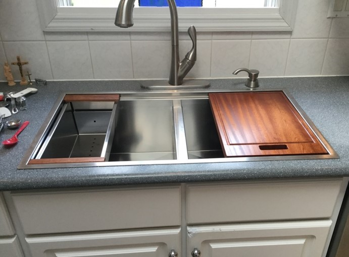 High Quality Stainless Steel, Double Bowl Sink, Solid Surface, Corian, Formica, Formica  Solid