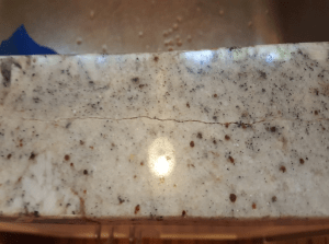 Customer's Granite Countertop Crack at the Front of the Sink