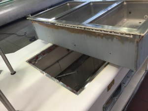 After - ProLogis: Buffet Countertops were Refinished and Repaired