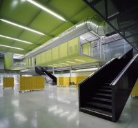 Atrium D study space with transparent composite panels