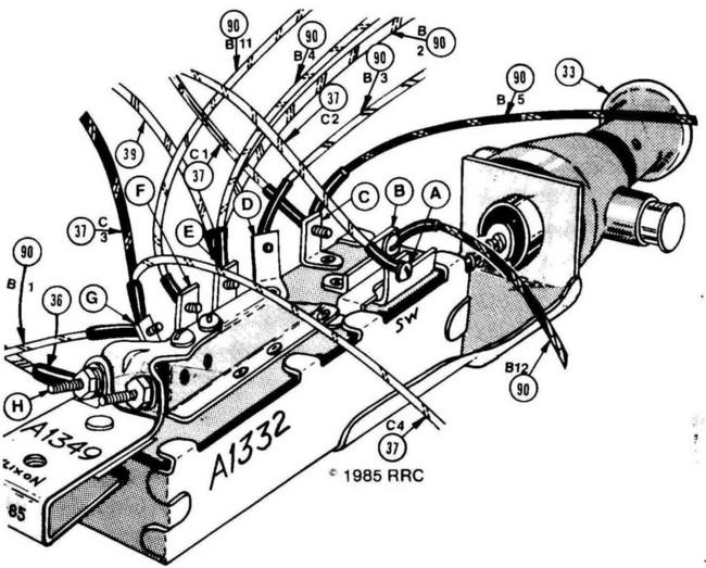 morris mini 77 brakes diagram