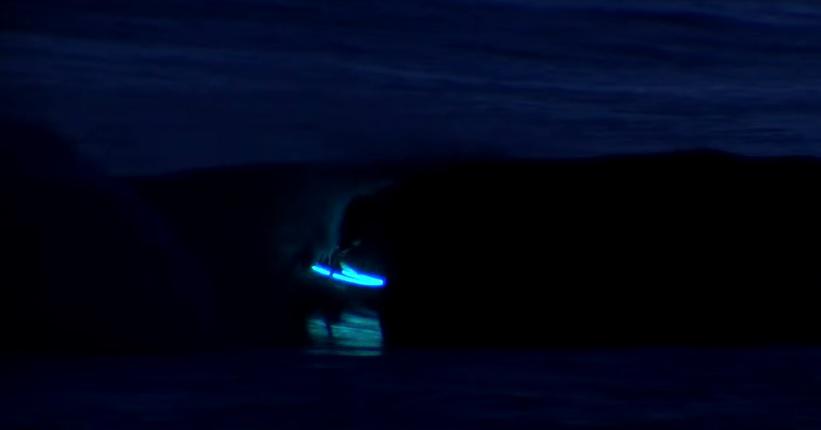 Aritz Aranburu LED Night Surfing at Mundaka