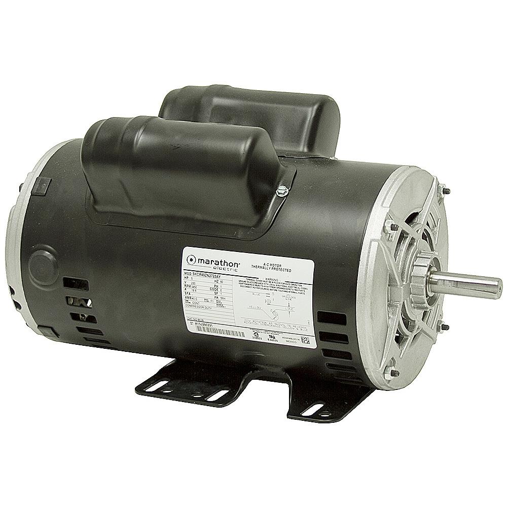 Marathon 1 3 Hp Motor Wiring Diagram 5 Hp Marathon 3450 Rpm 230 Vac Compressor Motor Air