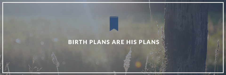 Birth Plans are His Plans - Surrender Birth