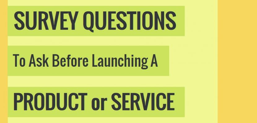 Survey Questions To Ask Before Launching A Product (PART II)