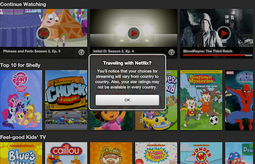 What does Netflix USA look like if I'm in Canada