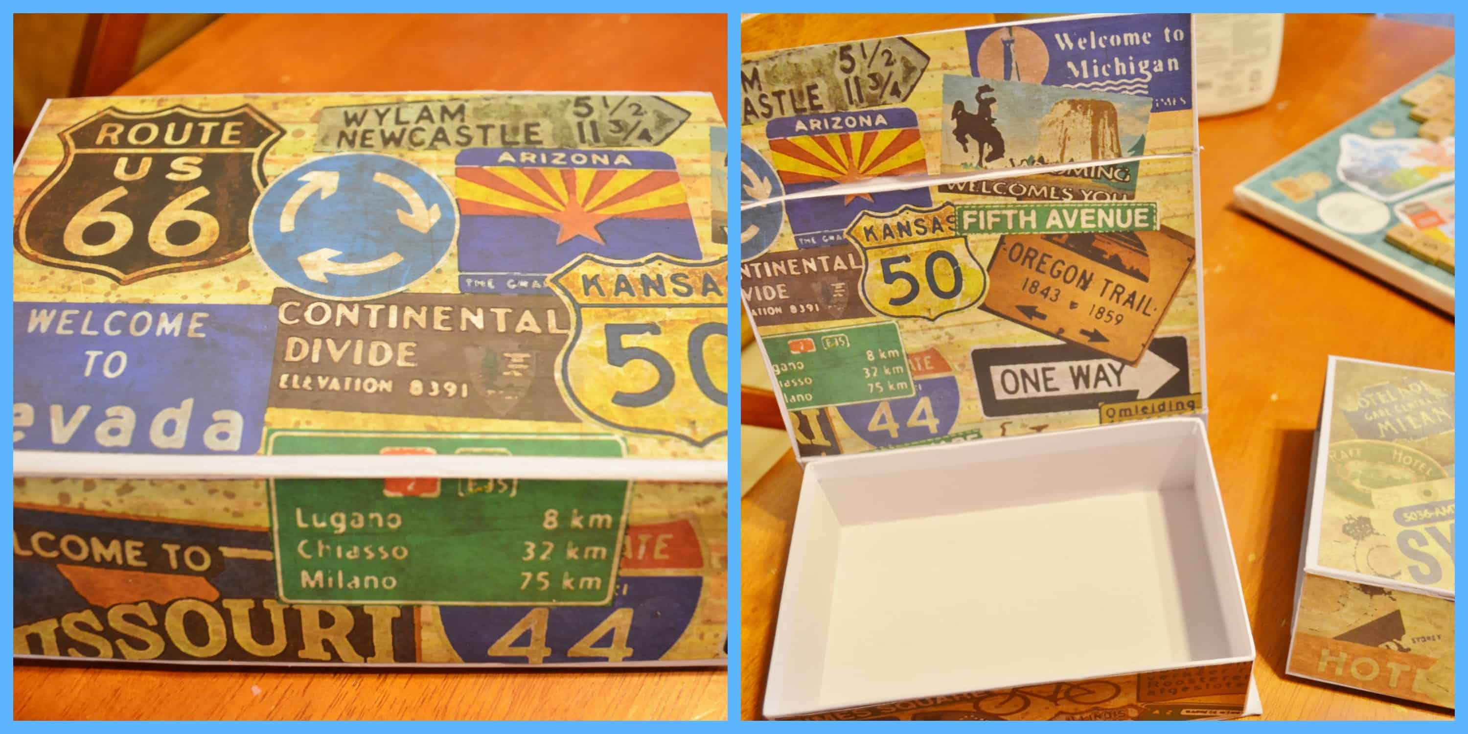 Diy Mod Podge Memory Boxes Travel Memory Map Project