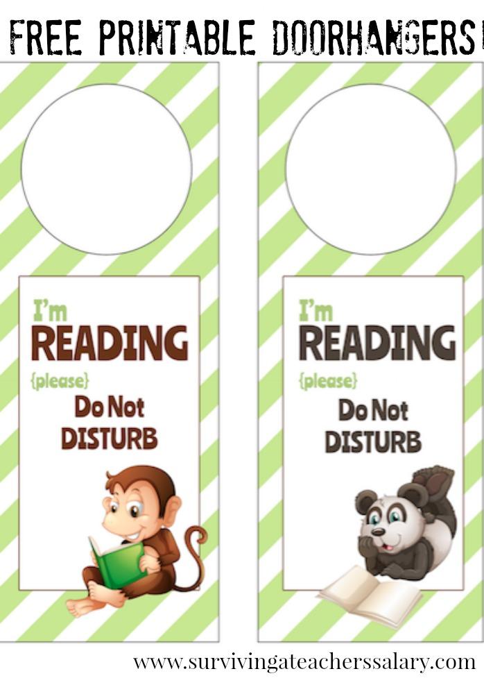 I\u0027m Reading Printable Door Hanger for Book Nooks