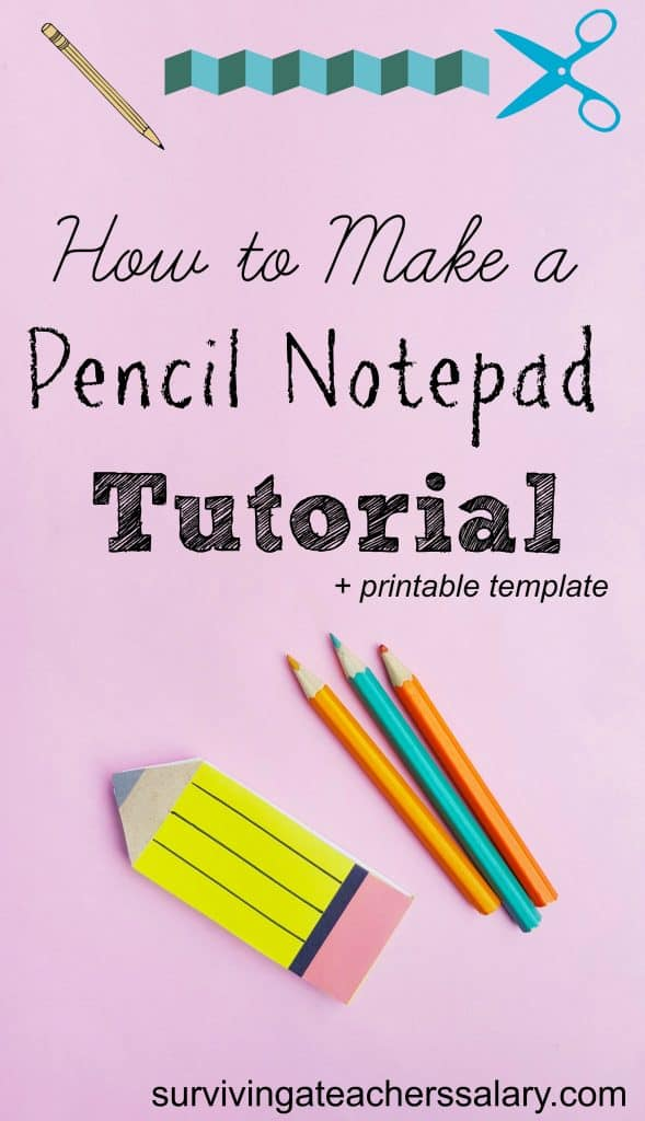 Pencil Craft How to Make a Pencil Notebook Paper Book