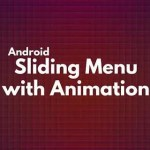 Add sliding menu with animation to an Activity