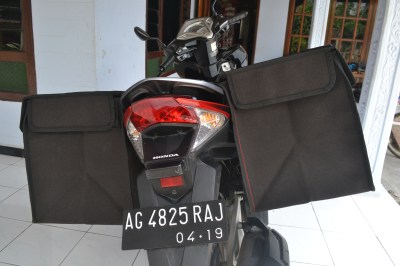 Jual Tas Kurir Keranjang Motor Super Kuat Kanvas TNI SuryaGuna
