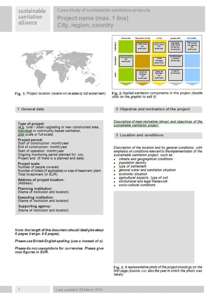 SuSanA Case Study template - Case studies - study template