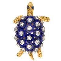 A Cartier 18ct yellow gold diamond set Russian wedding ...