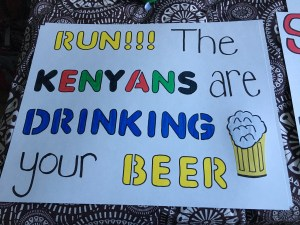 "The newbie favorite this year. ""Run! The Kenyans are drinking your beer!"""