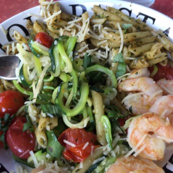 zucchini noodles meal