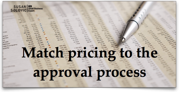 pricing and approvals