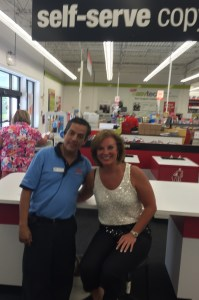 Gomez and me at self-serve Staples
