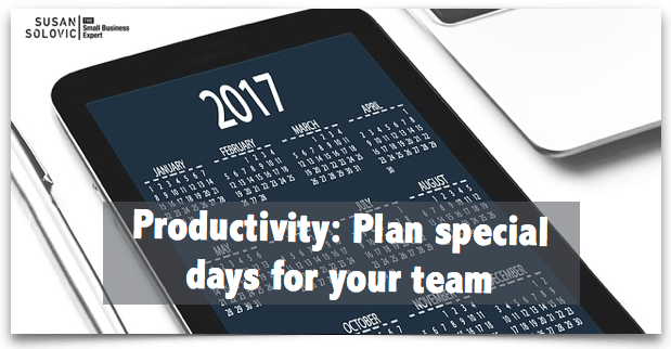 producitivity - plan special days for your team national days
