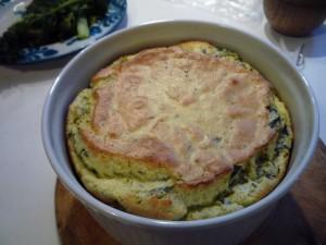 soufflé with wild garlic and sorrel