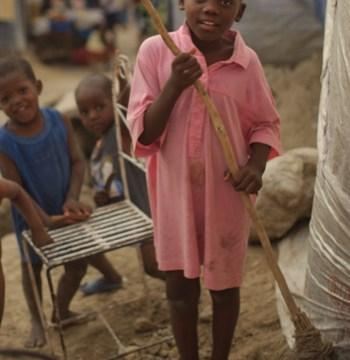 mopping haiti