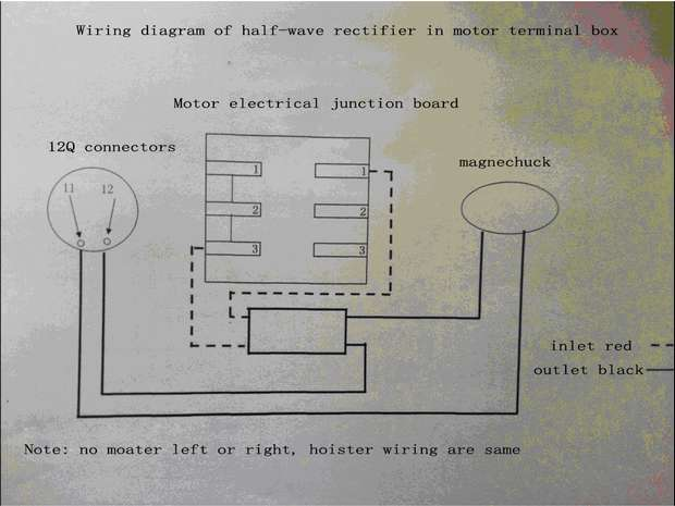 wiring for half-wave rectifier
