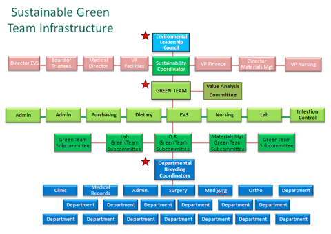 Green Teams - Sustainability Roadmap - how to organize chart examples