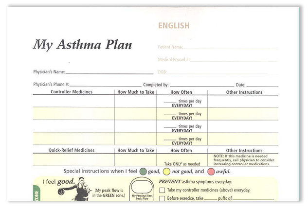 Adult Asthma Action Plan Sutter Health - action plan in pdf