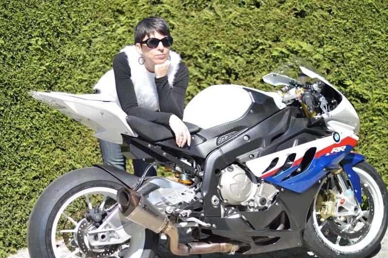 Pretending to be a biker chick