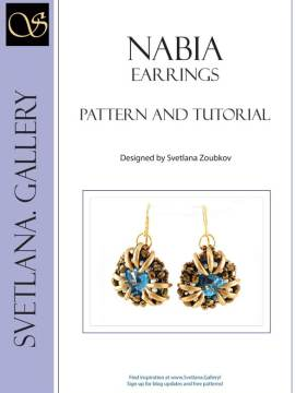 Nabia Earrings Bead Pattern And Tutorial Cover Page