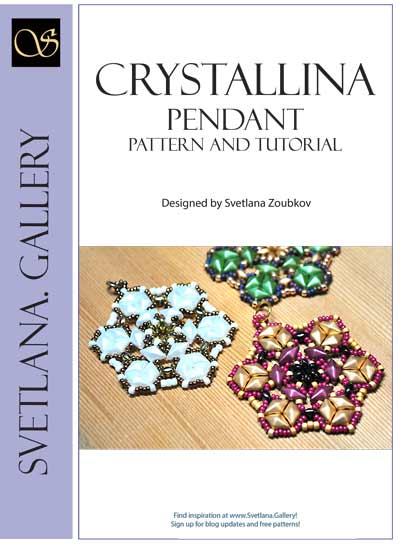 Crystallina Bead Pattern And Tutorial - find more tutorials at www. Svetlana.Gallery