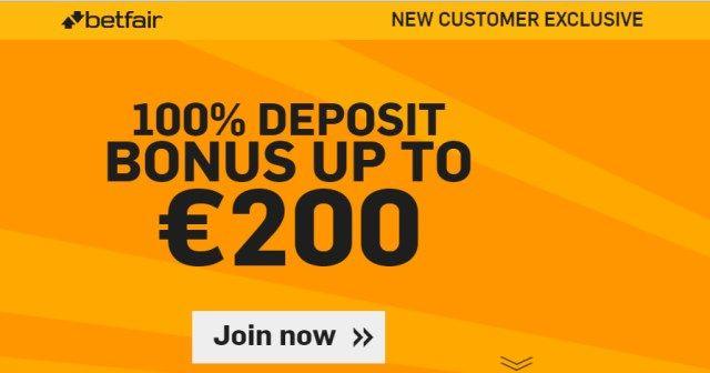 Betfair BONUS do 200€ za nove korisnike!