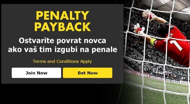 Bet365 Penalty Payback – Ostvarite povrat novca ako vaš tim na Euru izgubi na penale