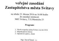 Schvalování rozpočtu města Svitavy v přímém přenosu