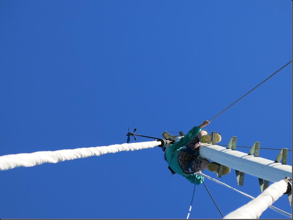 Anna up the mast