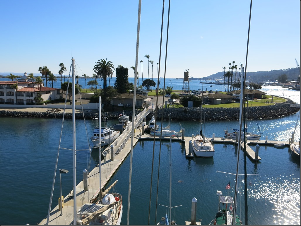 View of the public marina