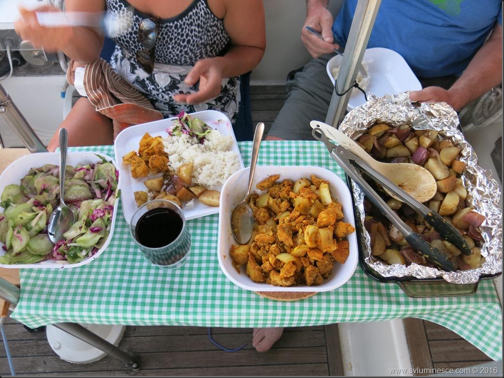 Our dinner feast