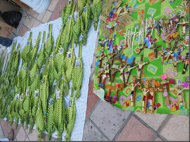 Display of palm crafts